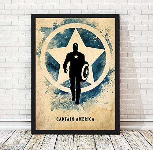 Vintage Avengers Captain America Minimalist Poster, Captain America Print, Avengers Artwork, Avengers Print, A3 Print (11.7x16,5 inches) (Captain America Visions compare prices)