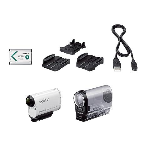 Sony HDRAS200V.CEN Caméra sportive avec GPS intégré Caméra sportive avec GPS intégré, Full HD 120p, Wifi/NFC, 50Mb/s, ralentis HD 240i/s Blanc
