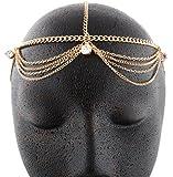 Goldtone Metal Head Chain with Studs