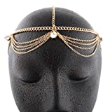 Gold Metal Head Chain with Studs
