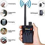 Anti-Spy Signal Detector GPS Signal Detector Spy Bug Camera Wireless Detector Spy Detector Device GPS RF Scanner Finder GSM Device Finder (Color: Black)