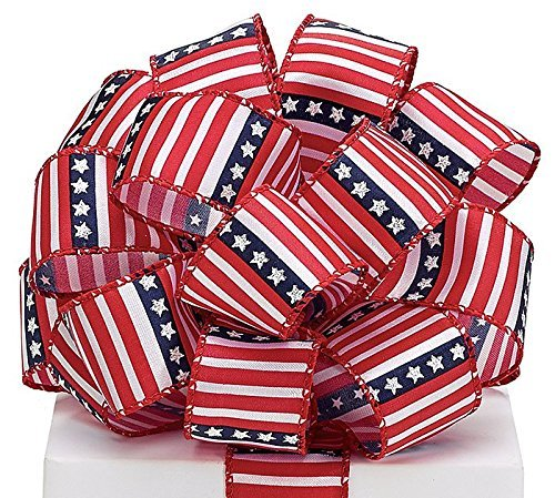 #9 Stars and Stripes Patriotic Wired Ribbon 20yds
