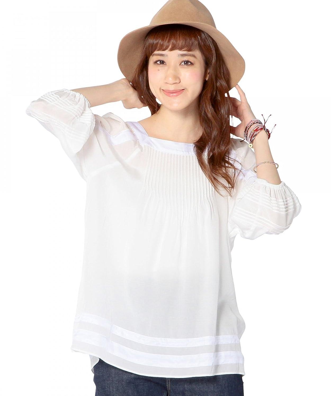 Amazon.co.jp: (アナザーエディション) Another Edition AEBC PIN TUCK TUNIC 56216990475 01 White フリー: 服&ファッション小物通販