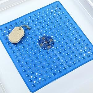 amazon com deluxe square non slip shower bath mat