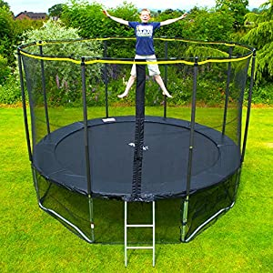 Rebo 14FT Air Launch 4K Trampoline With Halo Enclosure & Accessory Pack