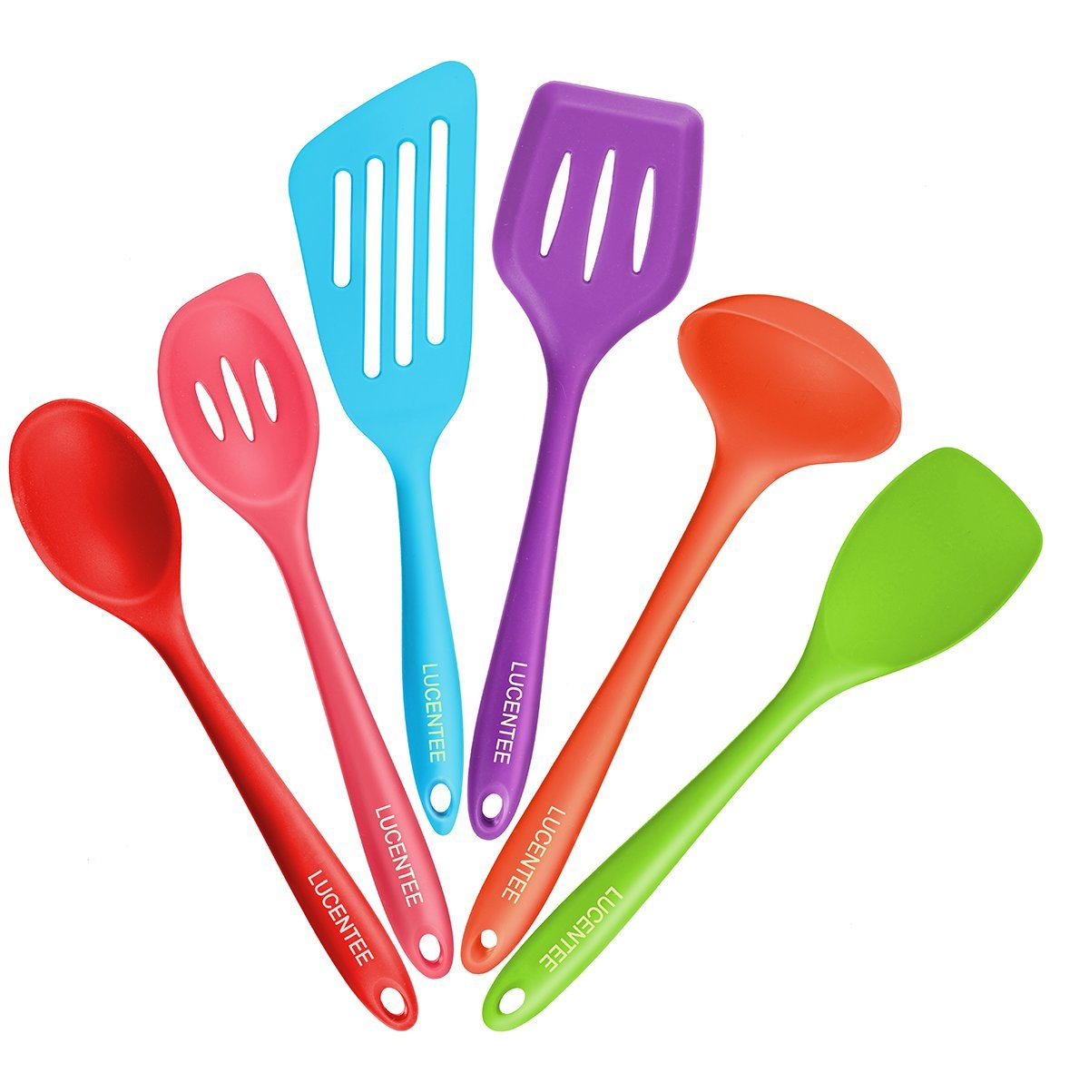 6 Piece Utensils Cooking Kitchen Silicone Set Tool Kit Spatula Spoon Kitchen