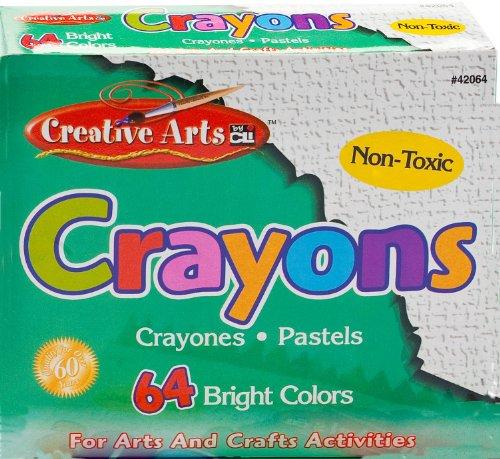 Charles Leonard Inc., Crayons, Assorted Colors, 64 Crayons/Box (42064) front-468287