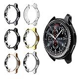 for Gear S3 Frontier SM-R760 Case,Soft TPU Fashion Metal Color Frame Shock Resistant Proof Cover Protector Shell for Samsung Gear S3 Frontier SM-R760, Galaxy Watch 46mm SM-R800 Smartwatch (6PCS) (Color: 6PCS)