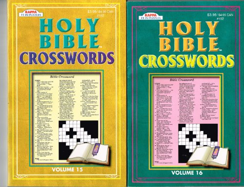 Holy Bible Crosswords 2 Volume Set (See Seller Comment for Volume Numbers)
