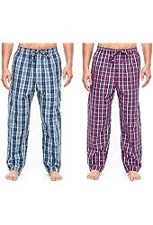 Noble Mount Men's Comfort Fit Sleep Lounge Pant (2 Pack)