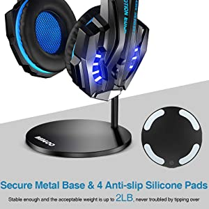 042868bdc78 BENGOO Gaming Headset Headphone Stand for PC PS4 Xbox One Headset, Aluminum  Headset Holder Headphones Display ...