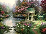 Van Eyck Jungle Round Booth Printed Landscape Oil Painting Prints on Canvas Wall Art Picture for Living Room Home Decorations HD-022