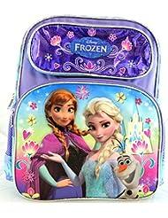 "Medium Backpack Disney Frozen Blue Anna Elsa And Olaf 14"" 651152"