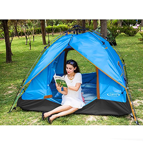 Big sale g4free instant 3 4 person dome tent double wall Wall tent floor