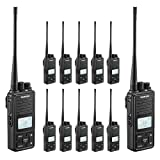 SAMCOM 20 Channel Walkie Talkie Wireless Intercom with Group Button, 2 Way Radio with 2.5 Miles Range, Earpiece & Belt Clip Included - Black (Pack of 12) (Color: Pack of 12)