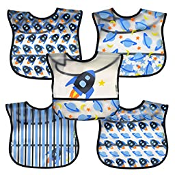 green sprouts  Wipe-Off Bib, Blue Rocket, 5 Count