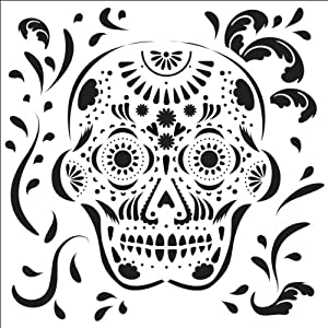"""Crafter's Workshop Templates 6""""X6""""-Mexican Skull"""