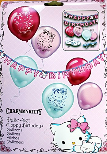 Deko set charmmykitty happy birthday die s e katze f r - Party deko berlin ...