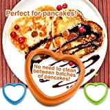 Egg Mold, Egg Rings, Pancake Mold (SET OF 2 HEART SHAPED) Egg Accessories, Made of Non Stick Heat Resistant Silicone