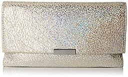 LOEFFLER RANDALL Tab Hologram Calf Foldover Clutch, Silver, One Size