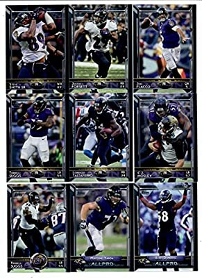 2015 Topps NFL Football Baltimore Ravens Team Set: 16 Cards-Joe Flacco, Justin Forsett, Steve Smith Sr., C.J. Mosley, Terrell Suggs, Lorenzo Taliaferro, Elvis Dumervil, Marshal Yanda, Baltimore Ravens, Maxx Williams, Breshad Perriman, Javorius Allen, Carl