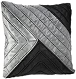 Shahenaz Home Shop Saibya Royal Poly Dupion Cushion Cover - Black and Grey