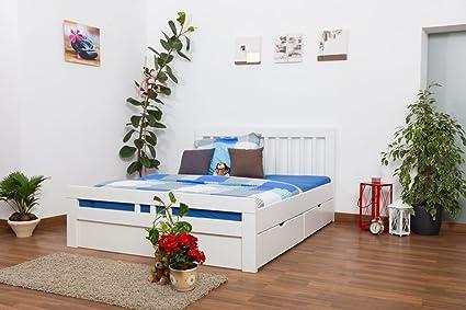"""Lit d'adolescents """"Easy Sleep®"""" K8 incl. 4 tiroirs et 2 panneaux de masquage, 160x200 cm en hêtre massif naturel"""