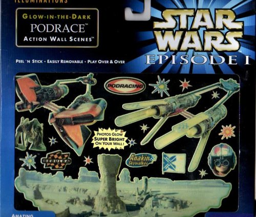 Star Wars Episode I: The Phantom Menace Glow-in-the-dark PODRACE Action Wall Scenes - 1