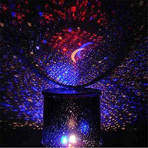 Cool Star Sky Bright - Lampada proiettore notturno LED, colori assortiti