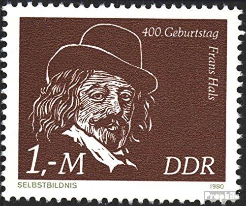 DDR 2547 (kompl.Ausgabe) Ersttagssonderstempel gestempelt 1980 Franz Hals (Briefmarken für Sammler)