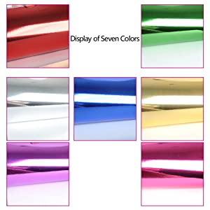 WOWOSS 112 Sheets Foil Cardstock, Metallic Mirror Board Sheets for Arts and Crafts, 7 Colors 6x6 Inch Foil Origami Folding Paper, Scrapbook Paper, DIY Card, Invitation Supplies