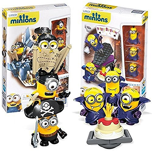 New-Mega-Bloks-Despicable-Me-Minions-Movie-Themed-Figure-CNF53-00-Shark-Bait-Vampire-Surprise-2-Pack-Gift-Set