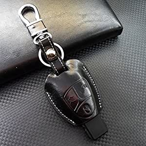 Rockxia car genuine leather key protective for Mercedes benz key chain accessories