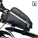 Rhinowalk Bike Bag Bike Top Tube Bag Bike Frame Bag Waterproof and Stable Bicycle Frame Bag Bicycle Bag Professional Cycling Accessories (Color: Black02)