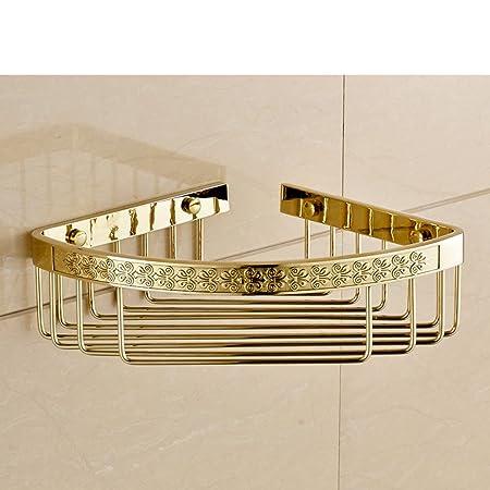 HCP Tutti muro del bagno di rame/bagno antico rack scaffale angolo/cestino triangolo singolo-H