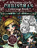 img - for A Whimsy Girls Christmas Coloring Book: Festive Girls, Fairies, & More book / textbook / text book