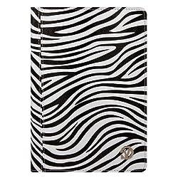 MyVangoddy Zebra Zebra Mary Leather Folio Case