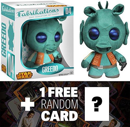 Greedo: Funko Fabrikations x Star Wars Figure + 1 FREE Official Star Wars Trading Card Bundle