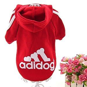 Trudz Pet Large Dog Hoodies, Rdc Pet Apparel, Fleece Adidog Basic Hoodie Sweater, Cotton Jacket Sweat Shirt Coat from 3XL to 9XL (Color: Red, Tamaño: 6XL)