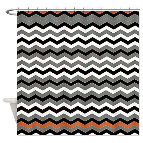 Orange Black White Gray Chevron