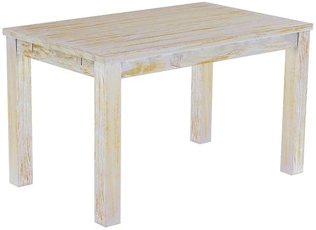 Brasil mobili tavolo da pranzo 'Rio' 130x 80cm in legno di pino massiccio–shabby color miele
