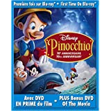 Pinocchio (70th Anniversary Platinum Edition + Standard DVD, English/French) [Blu-ray]by Dickie Jones