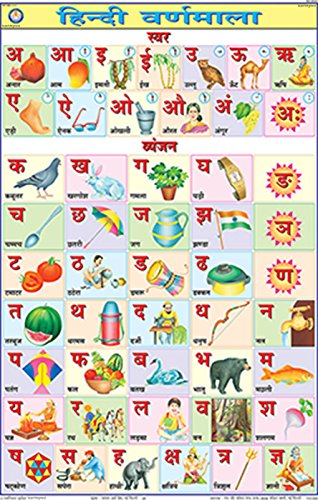 Buy hindi alphabet chart 50x75cm on amazon paisawapas com