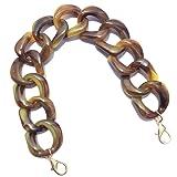 Aumey DIY Resin Bag Strap Plastic Ladies Bag Chain Shoulder Cross Body Bag Handbag Purse Replacement Chain Strap Set with Buckles (SZL04-Brown) (Color: Szl04-brown, Tamaño: 360MM)