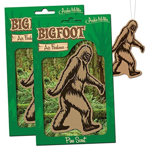 BIGFOOT Air Freshener - 2 Pack Pine Scent - For Car RV Trailer Tent - Best Yeti Sasquatch Bigfoot Gifts