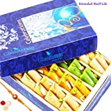 Rakhi Gifts Sweets-Ghasitarams Assorted Rolls Box 200 Gms
