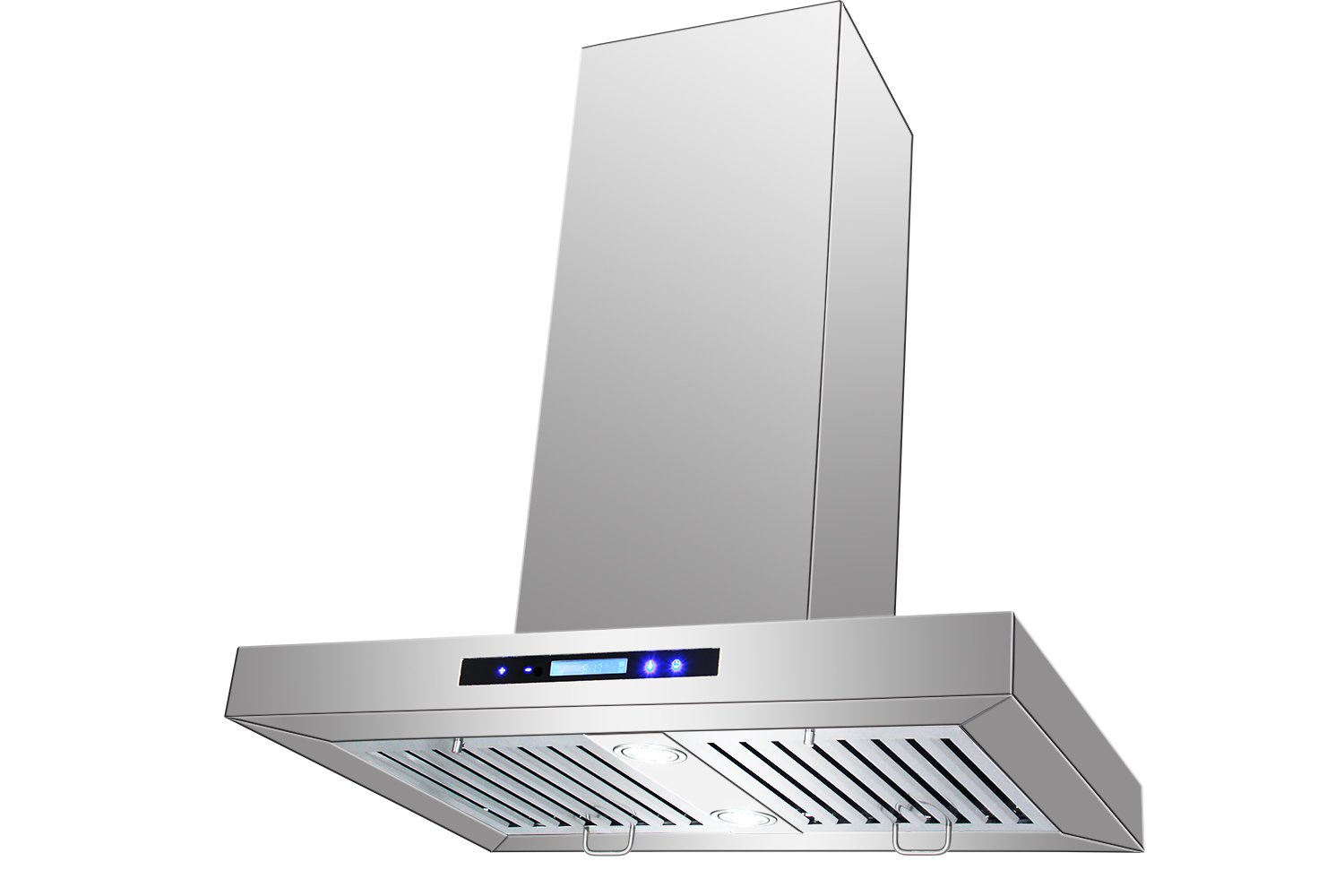"AKDY New 30"" European Style Island Mount Stainless Steel Range Hood Vent Touch Control AK-GL-9003-1-30 at Sears.com"