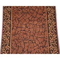 Dean Custom Length Washable Carpet Rug Runner - Garden Path Terra Cotta - Sold by the Linear Foot