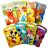 2 Set Of Baby Toddler Beginnings Board Books (Sesame Street Set + Mickey Mouse And Friends Set) - To