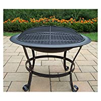 Oakland Living 30 in. Round Black Fire P...
